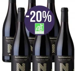 "Côtes du Rhône Villages Red PDO Organic ""QUINTESSENCE"" - box of 6 bottles-20%"