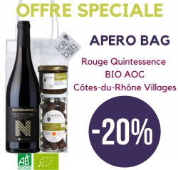 -20% Apéro Bag BIO CDR Villages AOC QUINTESSENCE BIO