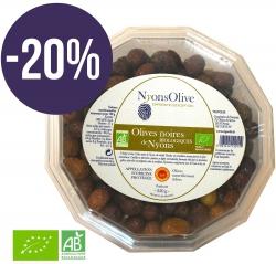 -20% sur Barquette de 350 g d'olives noires AOP Nyons biologiques.