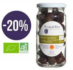 -20% Black olives from NYONS AOP -Organic 210 gr