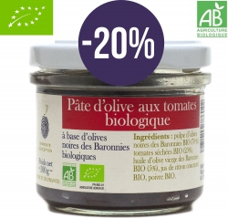 -20%  Black olives pasta with dried tomatoes ORGANIC - 100 g