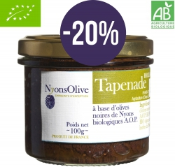 -20% Tapenade of black olives Nyons AOP 90 g - Organic