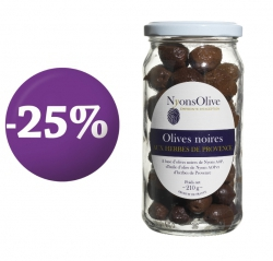 SPECIALE OFFER -Black olives with Provence herbs 210 g