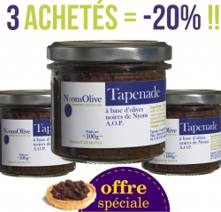SPECIAL OFFER LOT 3 TAPENADE AOP NYONS 100G -20%