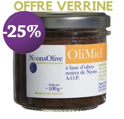 SPECIAL OFFER  -25% OliMiel - 100 g Black tapenade and honey