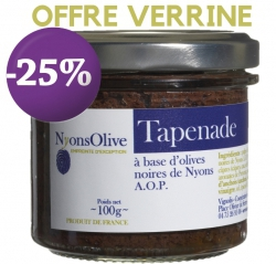 SPECIAL OFFER -25% Tapenade with black olives from Nyons PDO