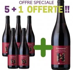 """OFFRE SPÉCIALE Côtes du Rhône Rouge AOC """"CONSTANCE"""" 5+1 Offerte"""