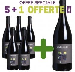 """OFFRE SPÉCIALE Côtes du Rhône Villages Rouge AOP """"EXUBERANCE""""  5+1 offerte"""