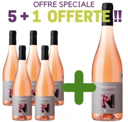 """SPECIAL OFFER Côtes du Rhône Rosé AOP """"FULGURANCE"""" 5 + 1 Free"""