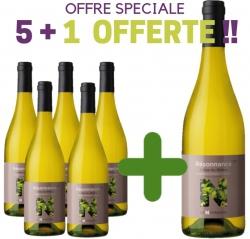 """OFFRE SPECIALE Côtes du Rhône Blanc AOP """"RESONNANCE"""" 5+1 Offerte"""