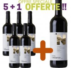 """OFFRE SPÉCIALE Coteaux des Baronnies Rouge IGP """"TERRE D'ALLIANCE"""" 5+1 Offerte"""