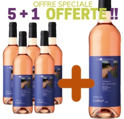 """SPECIAL OFFER Coteaux des Baronnies Rosé PGI """"TERRE DE LUEUR"""" 5 bottles+ 1 free"""