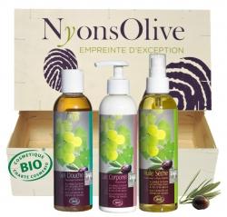 BOX BEAUTÉ BIO - Coffret de 3 produits BIO à base d'huile d'olive & de raisins