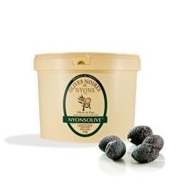 Olives noires de Nyons AOP en saumure - 5 kg
