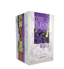 Bag in Box COTES DU RHONE AOC- Red  5 L