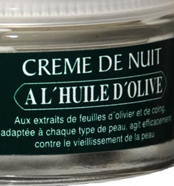 Night beauty cream, with olive oil 50 ml