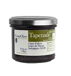 Tapenade of black olives Nyons AOP 90 g - Organic