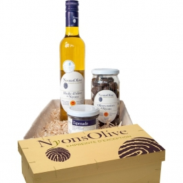 Basket Gift Volcan- with all products under NYONS PDO (AOP)