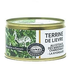 "Hare Terrine with white wine IGP Baronnies Chardonnay ""La Nyonsaise"" ®"