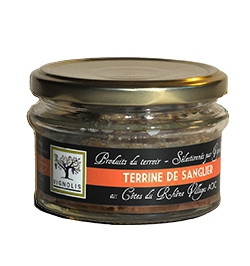 "Wild Boar Terrine with wine AOC Côtes du Rhône Villages "" La Nyonsaise"" ®"