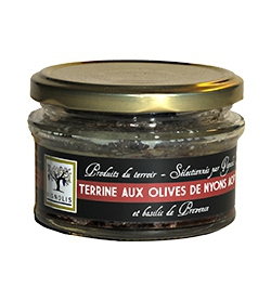 Pork terrine with black olives Nyons PDO