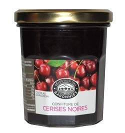 Confiture de cerise noire - 350 g