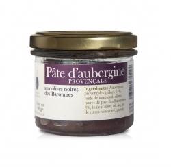 Pate d'aubergines Provençale aux olives noires des Baronnies - 100 g