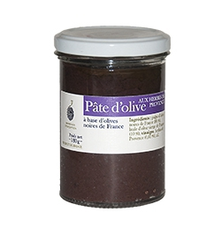 Glass jar 180 g olive paste with Provence herbs
