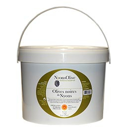 Bucket-5 Kg natural-black olives from Nyons PDO