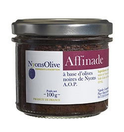 Affinade à base d'olives noires de Nyons AOP - 100 g