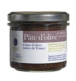 Pate d'olives noires au fromage de chèvre - 100 g