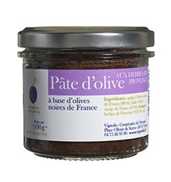 Glass jar 100 g olive paste with Provence herbs