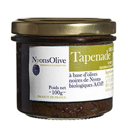 Tapenade of black olives Nyons AOP 100 g - Organic
