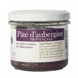 Provençale Eggplants paste with black olives from Baronnies