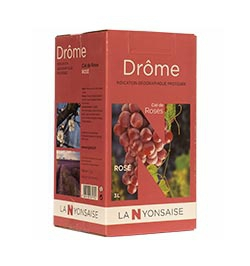 Bag in Box IGP Drôme Rosé wine  3 L
