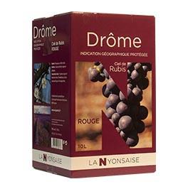 Vin de Pays Drôme Rouge IGP - BIB 10 L