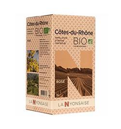Bag in box  Côtes du Rhône AOC Rosé -ORGANIC 3 L