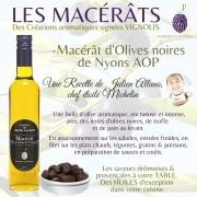 MACÉRAT D'OLIVES NOIRES DE NYONS AOP &  son goût