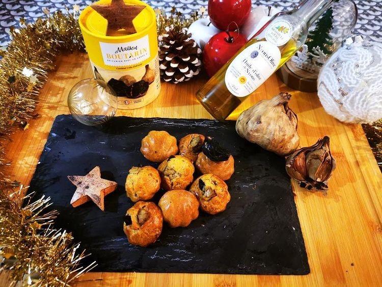 Bouchées de Canard, ail noir & huile d'olive de Nyons AOP